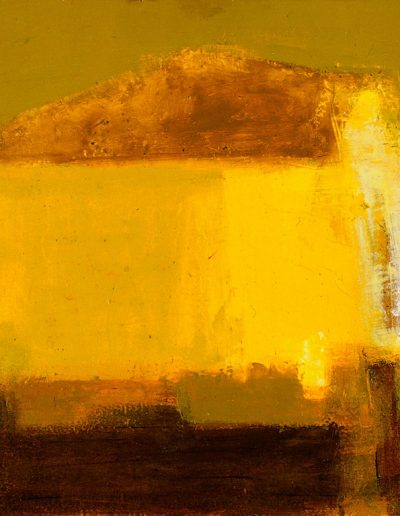 Ochre and Yellow Donegal, Oil on Board, 61 x 92cm, 1970