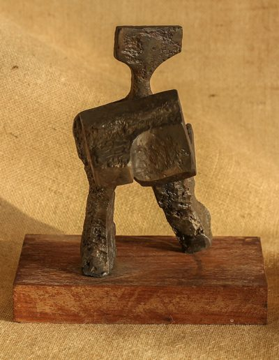 Tom Hutcheson, Sculpture of man, 18cm high, 70s
