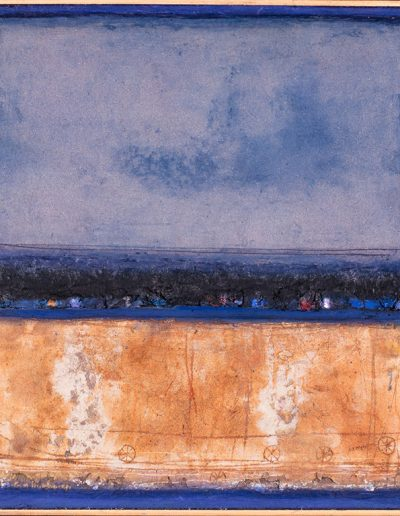 Tom Hutcheson, Unknown painting, Violet sky, brown earth.