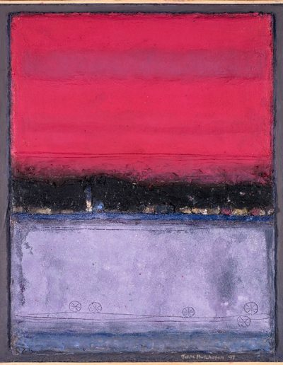 Tom Hutcheson, Unknown painting, Violet ground, pink sky