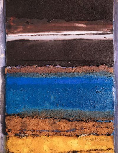 Tom Hutcheson, Unknown painting, yellow & blue earth, brown sky.
