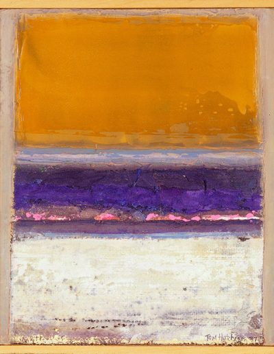 Tom Hutcheson, Foreshore Culzean, Acrylic on Board, 38 x 31cm, 1987