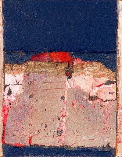 Tom Hutcheson, Greys & Pinks Lanarkshire, Acrylic on Board, 15 X 13cm, 80s/90s