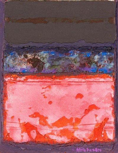 Tom Hutcheson, Rose Red & Blue, Acrylic on Board, 20 x 18cm, 90s