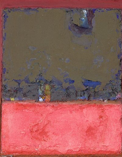 Tom Hutcheson, Remembered Place with Pit Workings, Acrylic on Board, 33 x 30cm, 1997