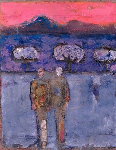 Tom Hutcheson, Untitled (Men), Acrylic on Board, 41 x 53cm, 80s