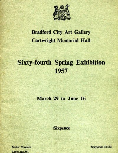 Bradford City Art Gallery, 1957 (Cover)