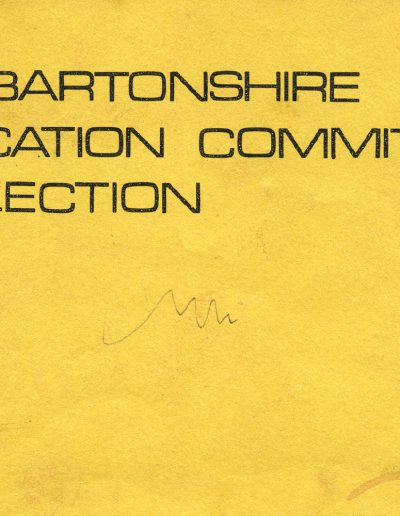 Dunbartonshire Education Committee Collection (Cover)