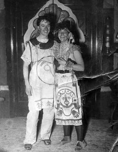 Tom and Molly at Glasgow School of Art party, 40s