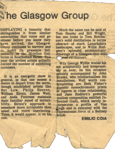 The Glasgow Group, Wallet Contents