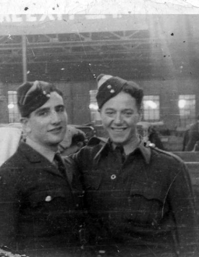Tom and friend in the RAF