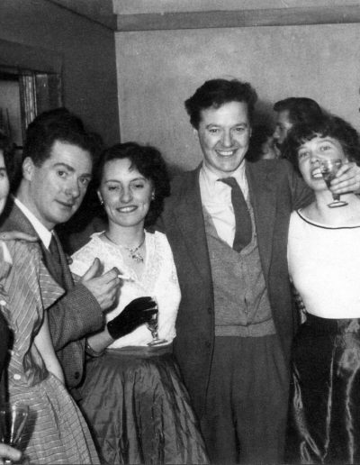 Danny and Margaret Ferguson, possibly Margaret and Kit Grant, Molly and Tom, and Ben Queenan