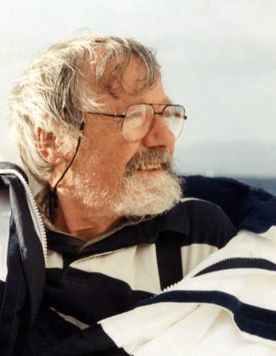 Tom Hutcheson sailing on 'Oskar', Clyde coast, late 80s