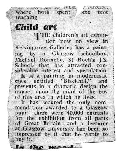 Child Art Press Cutting