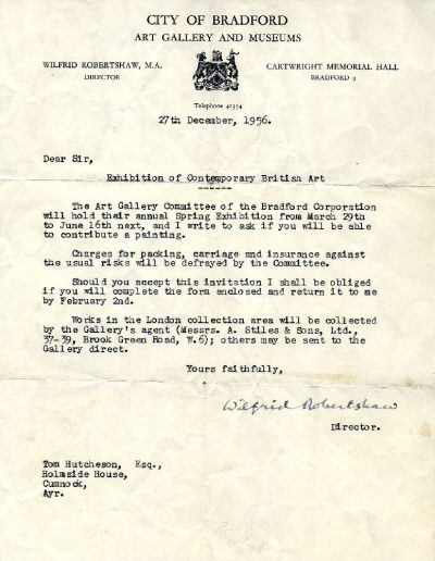 Bradford Museums Letter