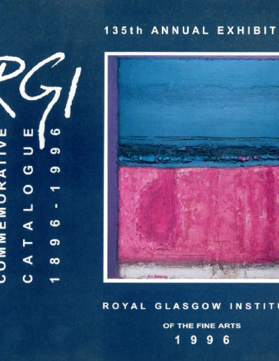 RGI 135th Annual Exhibition, 1996, Cover