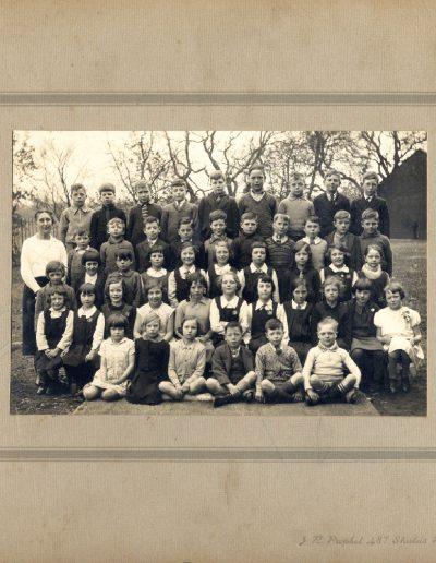 Tom Hutcheson, Tom's school photo – we think he is front row, second from the right