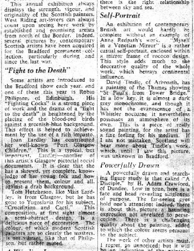 Bradford City Art Gallery, Glasgow Herald Review, 13/04/1957