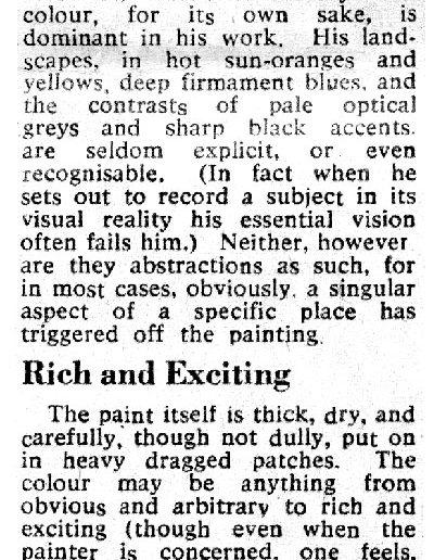 Citizens Theatre Show, Glasgow Herald Review, 13/04/1963