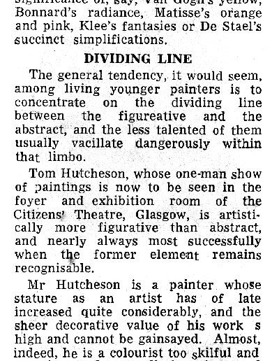 Citizens Theatre Show, Scotsman Review, 16/04/1963