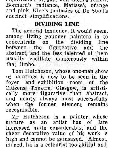 Citizens Theatre Show, Scotsman Review, 16/04/1963
