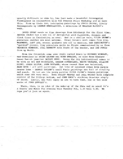 Compass Gallery, Newsletter 115, PP2, Nov 1979-Nov_1979