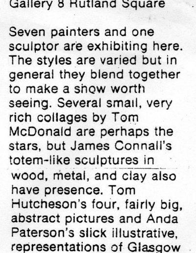 Glasgow Group, Edinburgh Festival Commonwealth Institute, Festival Times Review, 02/09/1981