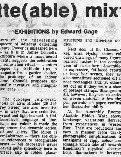 Glasgow Group, Edinburgh Festival, Saltire Society Review, E. Gage