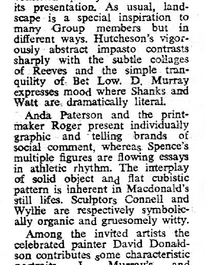 Glasgow Group, McLellan Jewish Echo Review, 15/06/1979