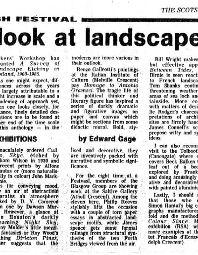 Land and Sea, Edinburgh Festival, Scotsman Review, 30/08/1985