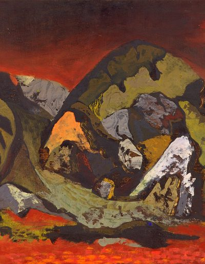 Tom Hutcheson, Untitled (Bing), Oil on Board, 42 x 56cm, 1952