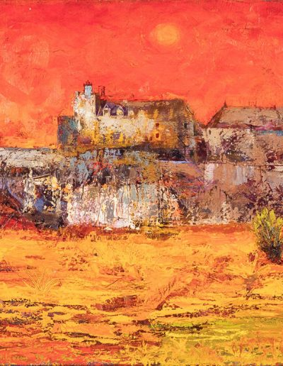 Tom Hutcheson, Stirling Castle, 1960, Oil on canvas, 61 x 92cm, 1960