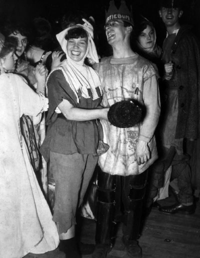 Tom at a fancy dress party, art school, 40s. Molly and future brother in-law David Hanley