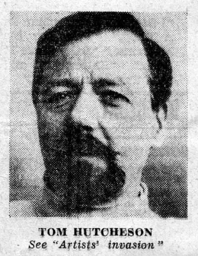 Upper Street Gallery, Islington Evening Citizen, Portrait of Tom Hutcheson, 24/10/1969