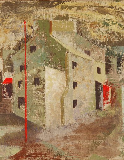 Tom Hutcheson, Untitled – Cumnock, Tanyard, Oil on Canvas, 44 x 54cm
